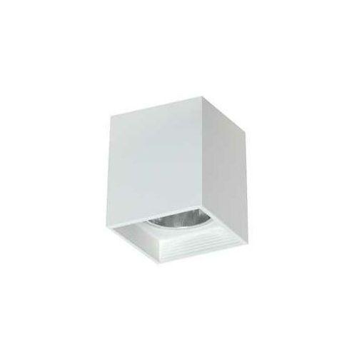 Luminex Downlight square 7252 oprawa sufitowa spot 1x60W E27 biały (5907565972528)