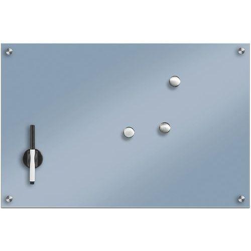 Zeller Szklana tablica magnetyczna, jasnoniebieski + 3 magnesy, 60x40 cm, (4003368116792)