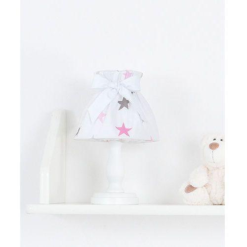Mamo-tato lampka nocna gwiazdki szare i różowe d