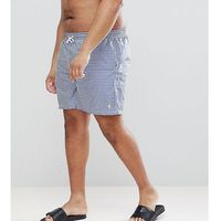 Polo Ralph Lauren Big & Tall Traveller Gingham Check Swim Shorts Player Logo in Blue - Blue, kolor niebieski