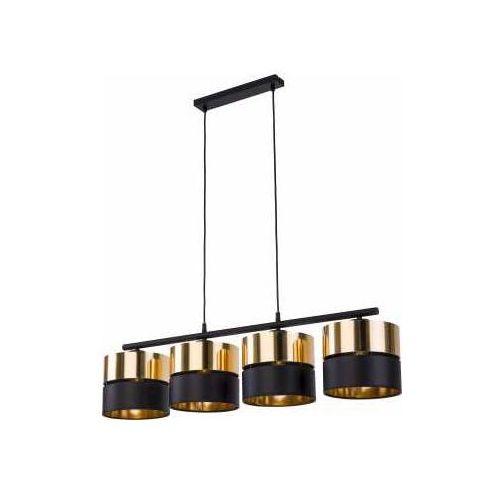 Tk lighting hilton 4342 lampa wisząca zwis 4x60w e27 czarny/złoty marki Tklighting