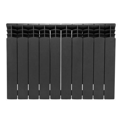 Armatura kraków Grzejnik aluminiowy premium antracyt 10 elementów