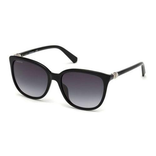 Okulary Słoneczne Swarovski SK0146-H 01B, kolor żółty
