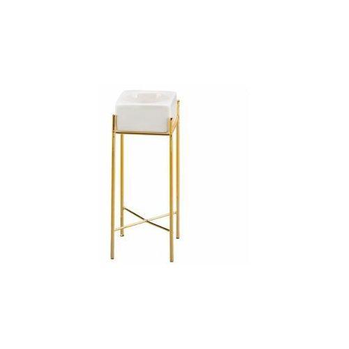 Hanmar Świecznik ceramiczny na świeczkę wys. 18. 5 cm biały (5901272923675)