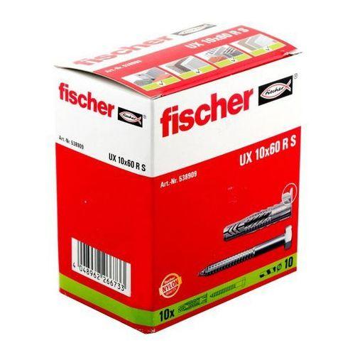 Fischer Kołki uniwersalne ux 10 x 60 mm z wkrętami z kołnierzem 10 szt. (4048962266733)