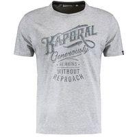 Kaporal SHORT SLEEVED Tshirt z nadrukiem med grey, S-XXL