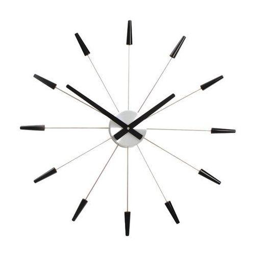 """Nextime Zegar ścienny plug inn"""" - czarny - 58 cm"""" - czarny"""