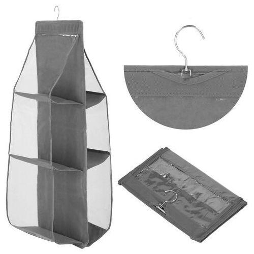 Springos Organizer wiszący do szafy z 6 półkami na torebki szary (5907719416960)