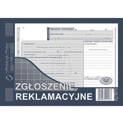 Michalczyk i prokop Druki samokopiujące zgłoszenie reklamacyjne a5 40 (601-3) (5906858012187)