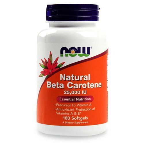 Now Foods Natural Beta Caroten 180 kaps