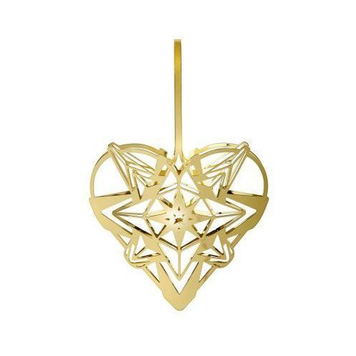 Ozdoba świąteczna serce karen blixen, złote, 13 cm - marki Rosendahl