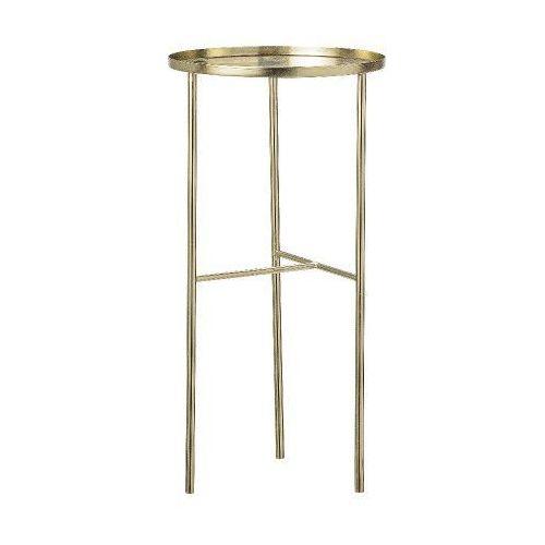 Bloomingville Pretty metalowy okrągły stolik podręczny, złoty -