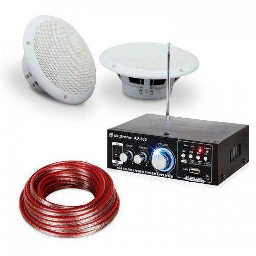 Electronic-Star Zestaw audio ze wzmacniaczem Hi-Fi i wodoszczelnymi kolumnami na taras do łazien (4060656072130)
