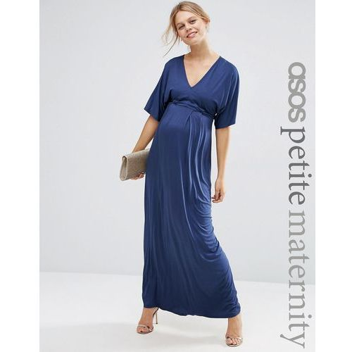 ASOS Maternity PETITE Kimono Maxi Dress - Navy, kolor niebieski