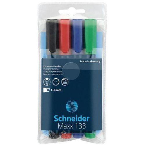 Zestaw markerów uniwersalnych maxx 133, 1-4 mm, 4 szt., miks kolorów marki Schneider