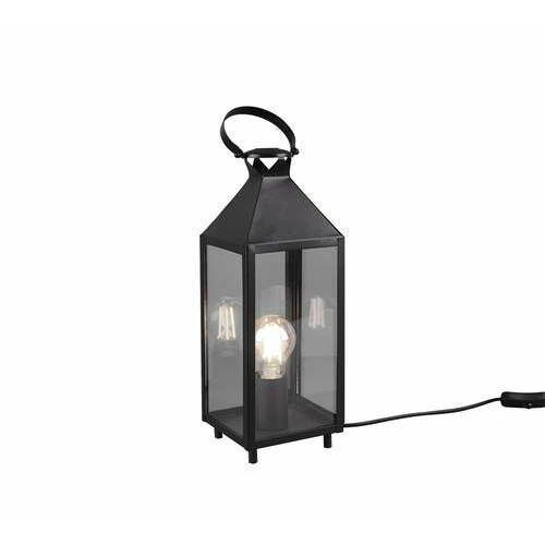 Trio RL Farola R50541002 lampa stołowa lampka 1x40W E27 czarna/transparentna