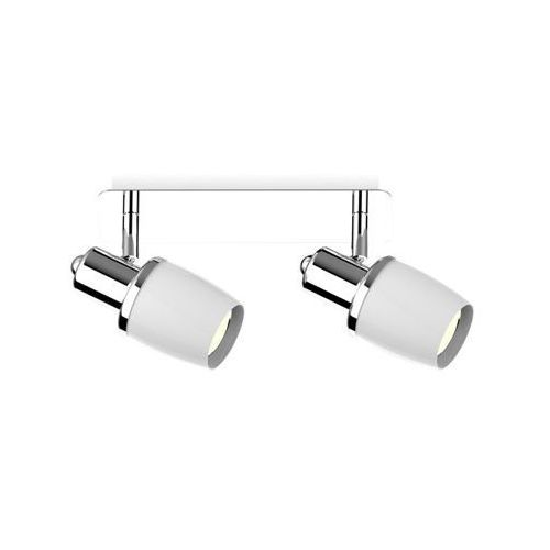 Zuma line poso ck180610-2 listwa lampa sufitowa spot 2x40w e14 srebrny/biały