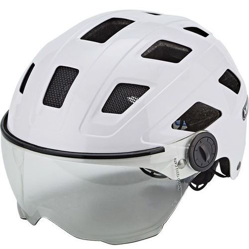 ABUS Hyban + Kask rowerowy Visor clear biały L | 58-63cm 2018 Kaski rowerowe (4003318727603)