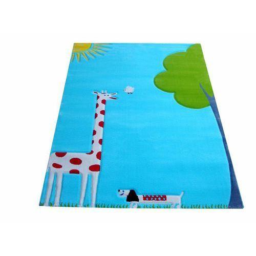 Dywan żyrafa soft play 134 x 180 cm turkusowy marki Ivi