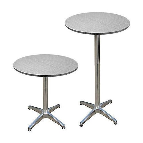 Wideshop Stolik regulowany stół aluminium bistro bar ogród