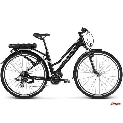 Kross Rower elektryczny trans hybrid 2.0 w czarny/niebieski/srebrny mat 2018