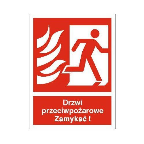 Znak drzwi przeciwpożarowe. zamykać! (w prawo) marki Techem