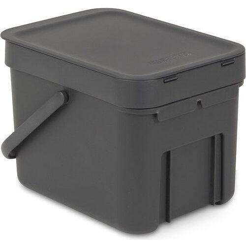 Kosz do segregacji odpadów sort & go 6 l szary marki Brabantia