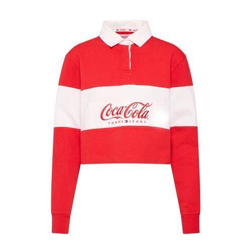 Tommy jeans bluzka sportowa 'tommy x coca-cola' czerwony / biały