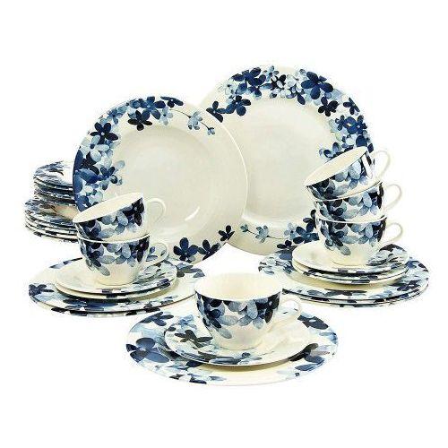 Creatable blue flowers serwis obiadowo - kawowy 30 el.