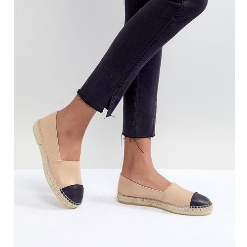 Park lane leather toe cap espadrilles - beige