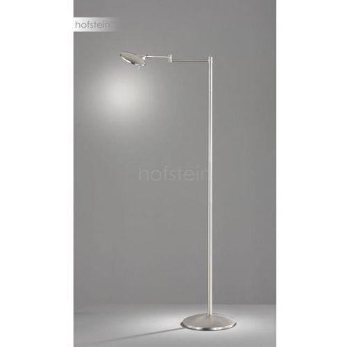 Trio kazan 474790107 lampa stojąca podłogowa 1x8w led niklowa/biała