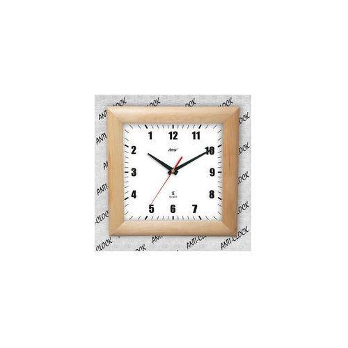 Anty-zegar drewniany kwadrat #1, ATW265AZ1