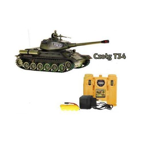 OKAZJA - Zegan Duży zdalnie sterowany czołg t-34 + pilot., kategoria: jeżdżące