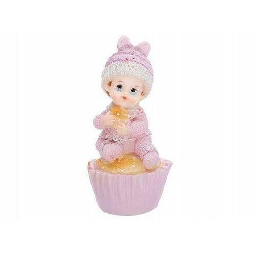 Figurka różowa - dziecko na ciastku - 9,5 cm (5901157428240)
