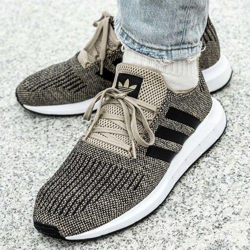 Adidas originals swift run tenisówki i trampki raw gold/core black/footwear white