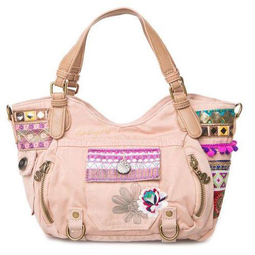 Desigual  rotterdam military deluxe handbag beżowy wielokolorowy uni, kategoria: torebki