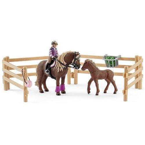 Schleich Jeździec z kucykami islandzkimi