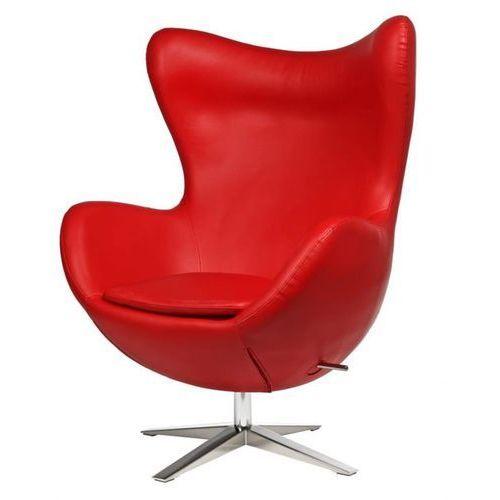 Fotel Jajo Soft skóra ekologiczna 513 czerwony (5902385702171)