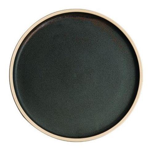 Płaski okrągły talerz, patynowa zieleń 250mm Olympia Canvas (Zestaw 6 sztuk)