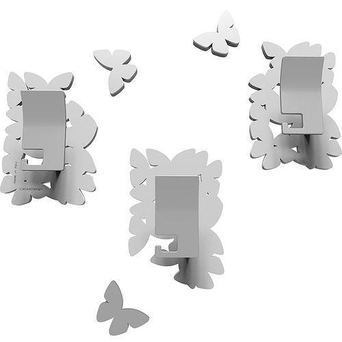 Wieszaki ścienne dekoracyjne Butterflies CalleaDesign białe (50-13-4-1)
