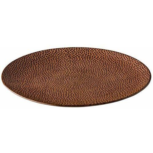 Talerz płytki honeycomb brązowy | śr. 210 lub 275 mm marki Fine dine