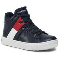Sneakersy TOMMY HILFIGER - High Top Lace-up Sneaker T3B4-30510-0739 M Blue 800, kolor niebieski