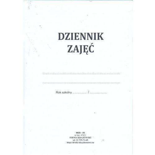 Dziennik zajęć pozalekcyjnych [men-i/6] marki Firma krajewski