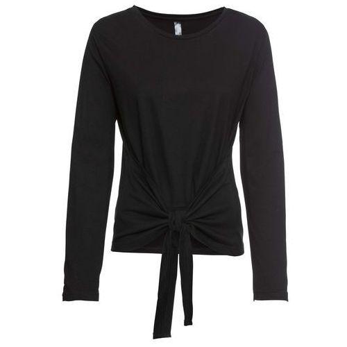 Shirt bonprix czarny z nadrukiem, bawełna