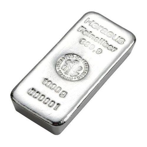 1000 g (1 kg) Sztabka srebra - wysyłka 24 h!