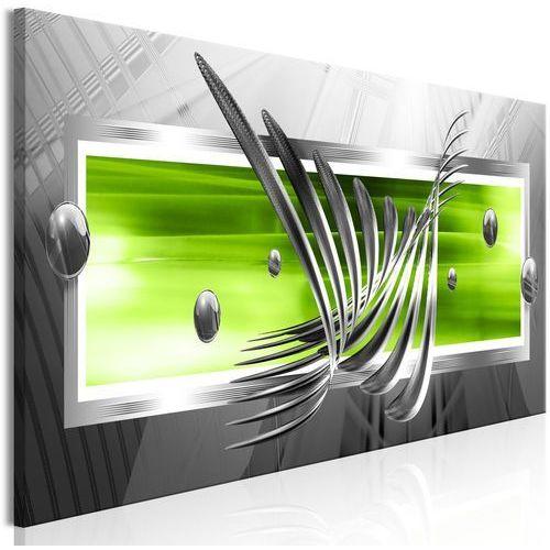 Obraz - srebrne skrzydła (1-częściowy) wąski zielony marki Artgeist