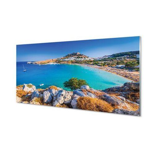 Obrazy akrylowe Grecja Wybrzeże panoramy plaża