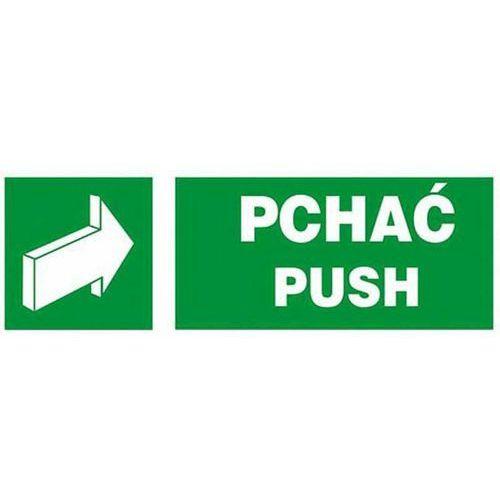 Raw-pol stefański spółka jawna Pchać - pusch - naklejka na drzwi anro