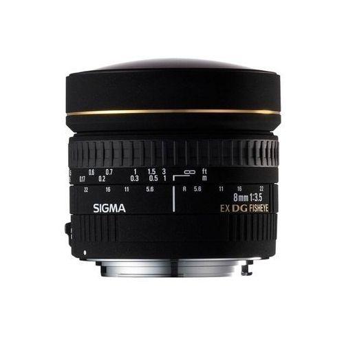 Sigma 8 MM F3.5 EX DG Polarizer Fisheye obiektyw (Gelatine filter), do Canon, 485101