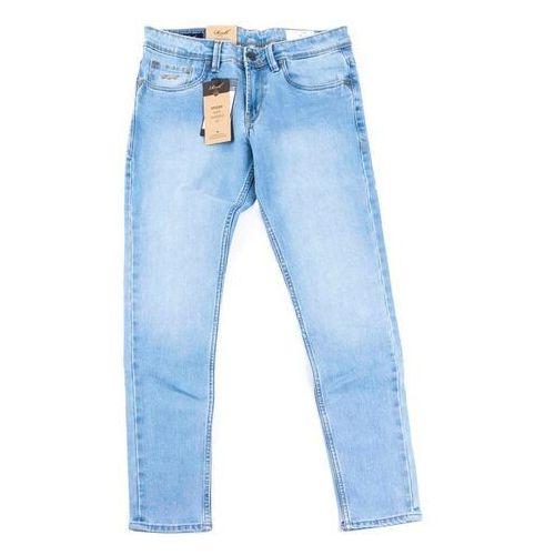 Spodnie - spider light blue grey wash (light blue grey wash) rozmiar: 36/32, Reell